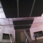 Dalles de plafond en contre-plongée