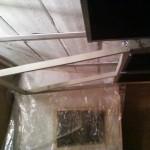 Détail du cadre du pan asymétrique avant gauche